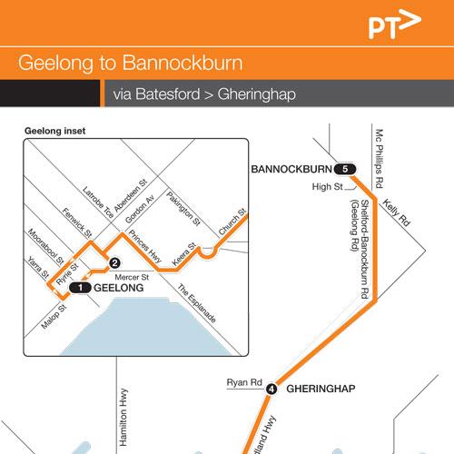 Route 19 Geelong To Bannockburn - Mcharrys Buslines on